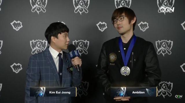 Ambition赛后采访:感谢RNG,从他们那学到了很多
